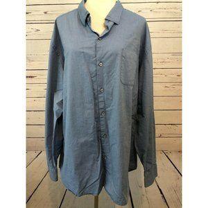 Tommy Bahama Button front shirt 3XL Blue Cotton